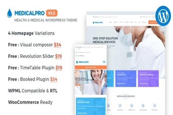 Medicalpro healthcare WordPress theme