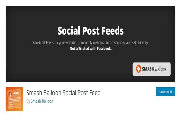 Social Post Feeds WordPress Plugin