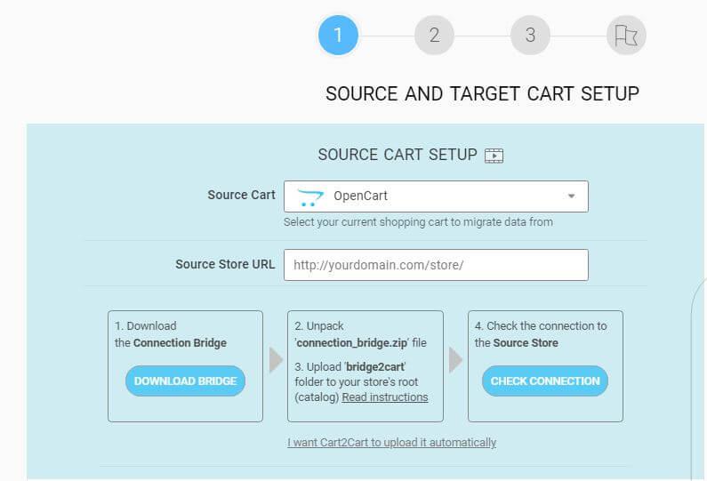 Source cart Setup