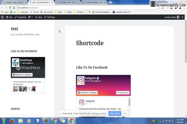 Widget for Social Page Feeds WordPress plugin