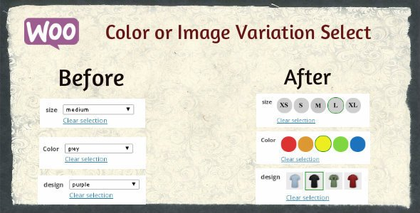 Woocommerce Color or Image Variation Swatches plugin