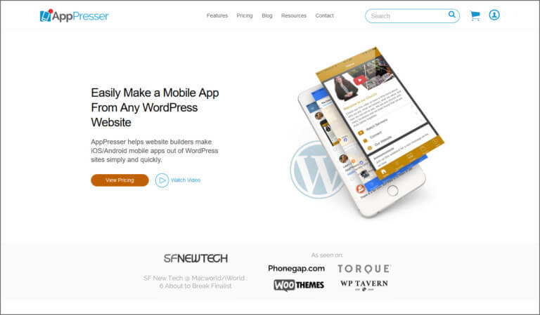 apppresser, WooCommerce to Mobile App