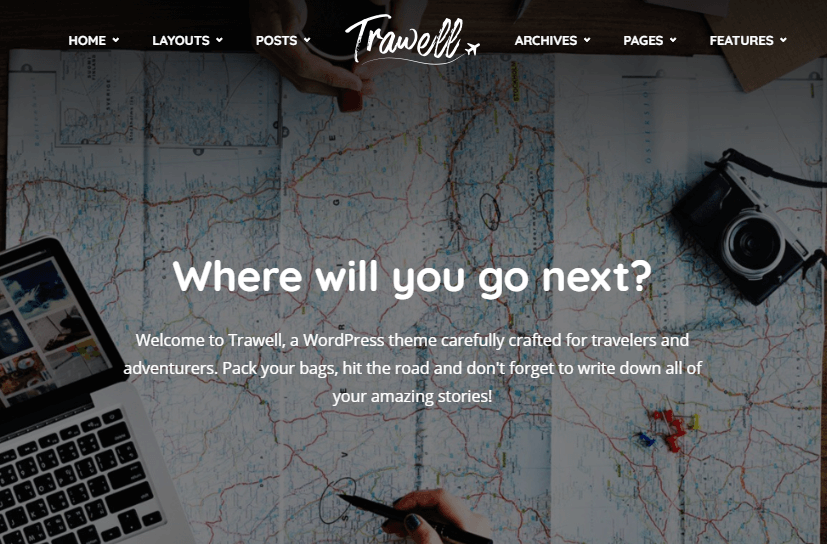 trawell wordpress theme