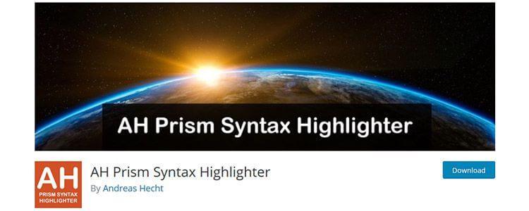 AH Prism Syntax Highlighter
