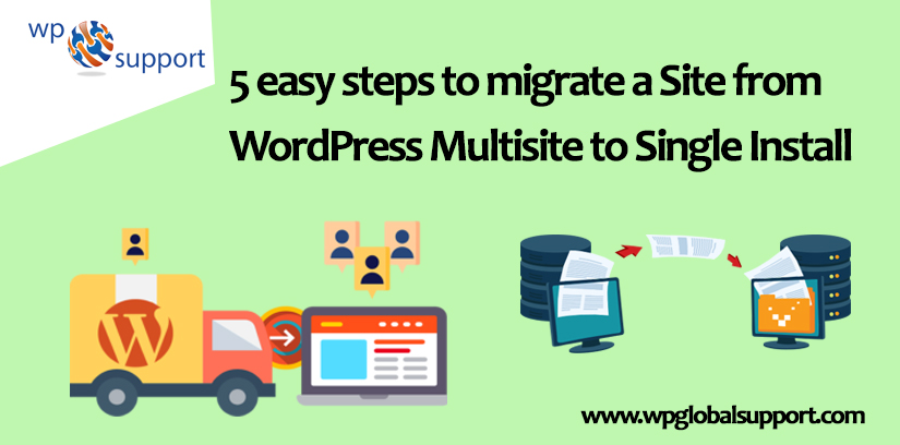 5 easy steps to migrate a Site from WordPress Multisite to Single Install