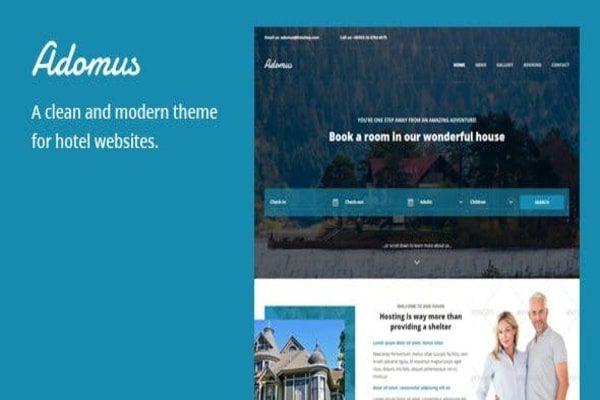 Adomus hotel theme in WordPress