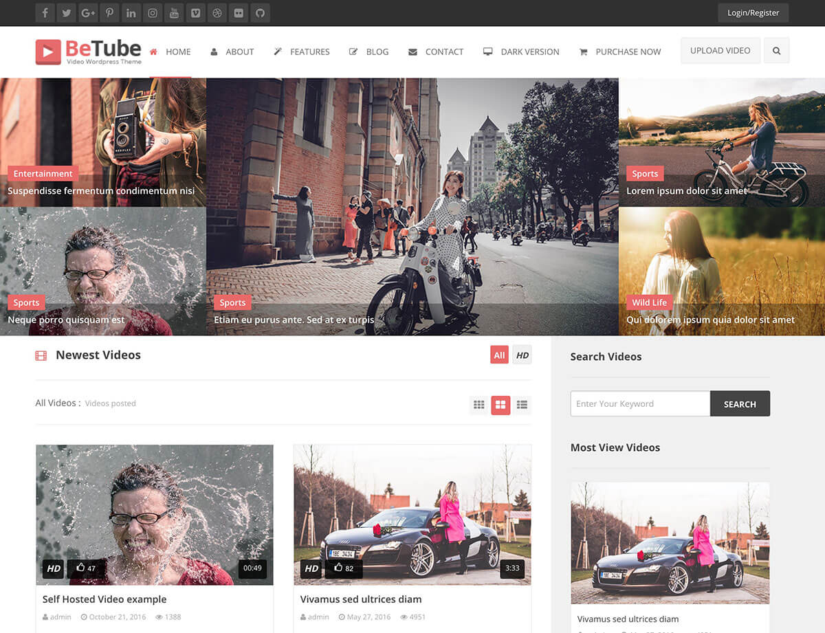 Betube WordPress Video Theme
