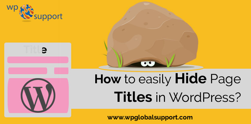 How To easily hide Page Titles in WordPress?