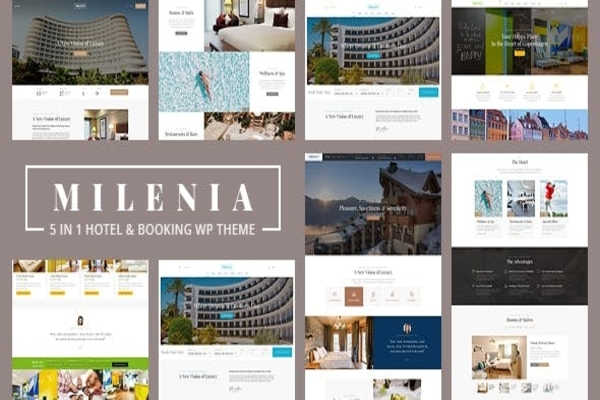 Milenia hotel WordPress theme