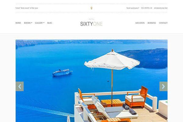Sixtyone hotel WordPress theme