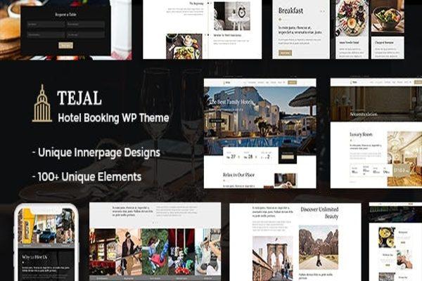 Tejal hotel theme in WordPress