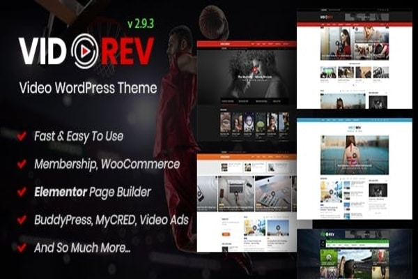 Vidorev WordPress Video theme