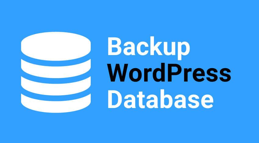 backupWordPress database
