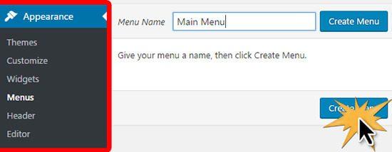 create main menu