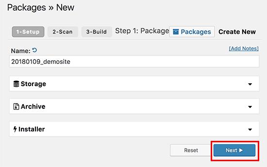 create package