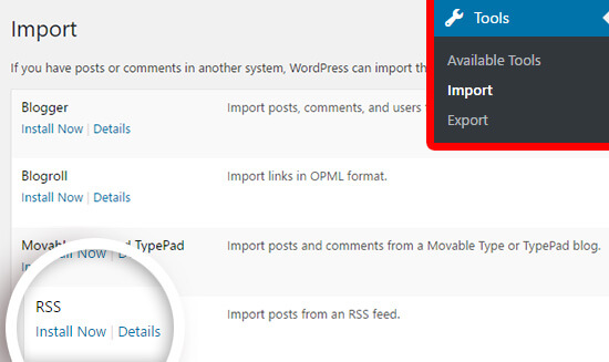 import rss
