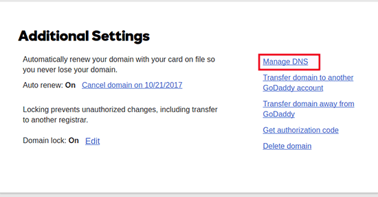 manage domain name server