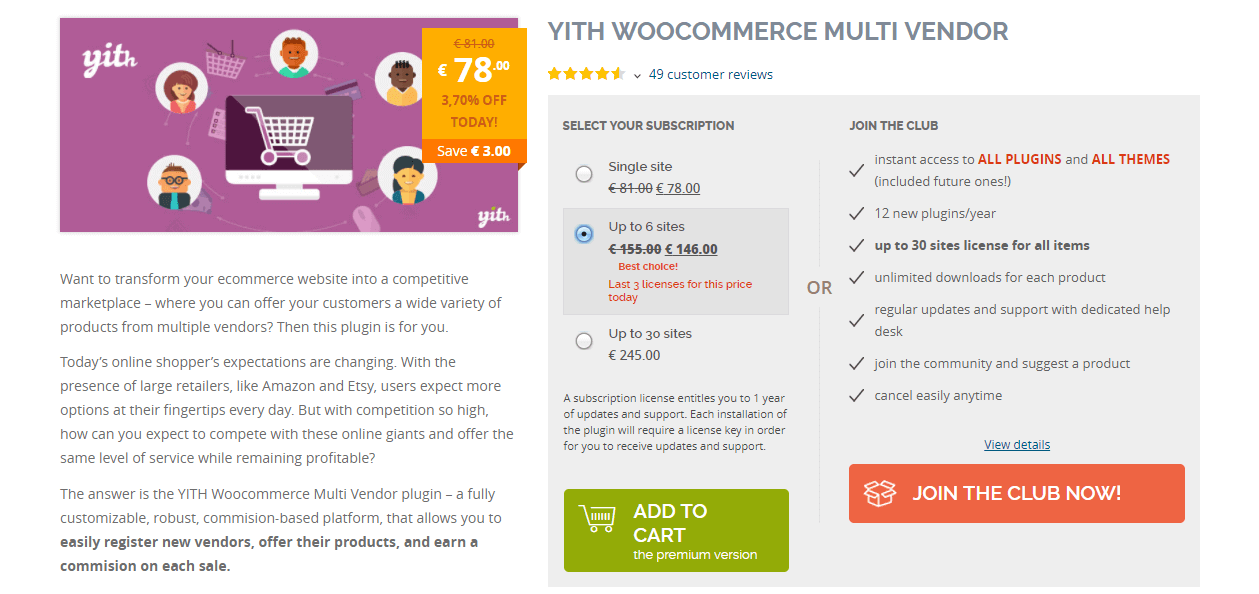 woocommerce multi vendors plugin