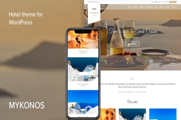 mykonos hotel & resort theme