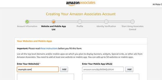 Amazon Affiliate Store via WordPress