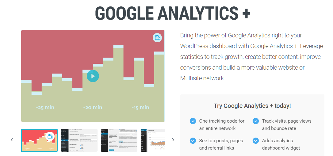 Google Analytics+ Plugin