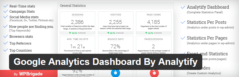 Google Analytics Dashboard By Analytify