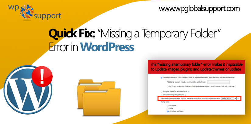 "Quick Fix: ""Missing a Temporary Folder"" Error in WordPress"