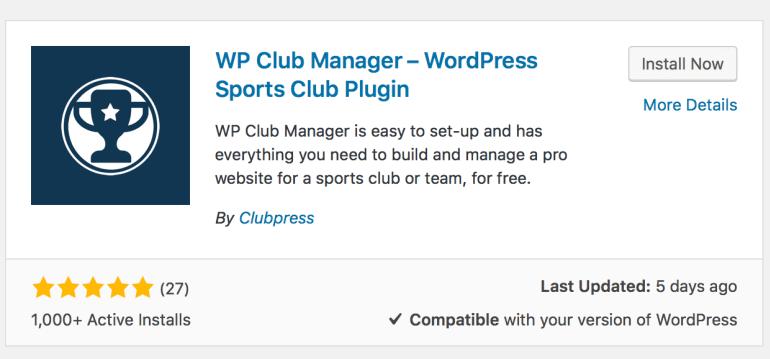 WP Club Manager WordPress Plugin