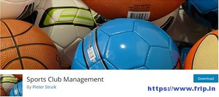 Sports Club Management Plugin
