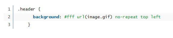 css short handed code