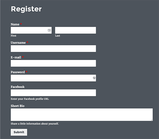 customregistrationform