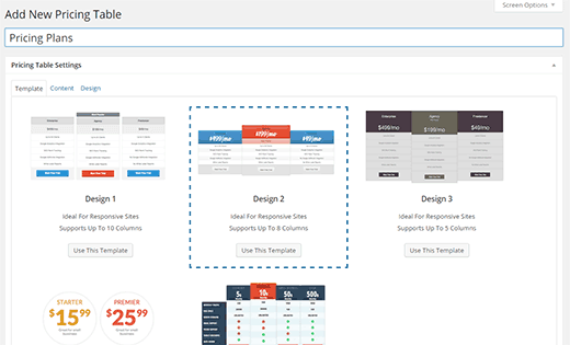 Pricing Tables in WordPress