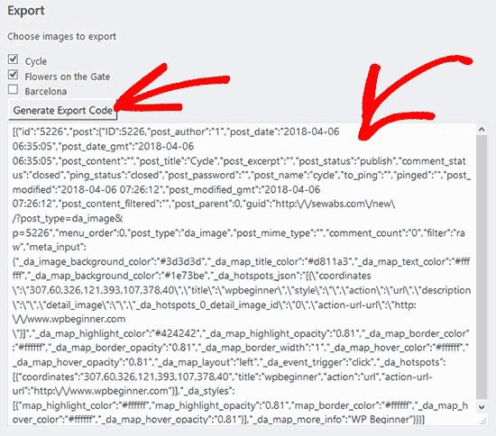 export-code-interactive-images