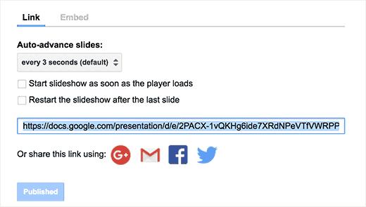 Google Slides Presentations