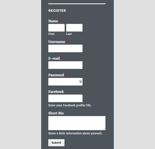 Custom User Registration