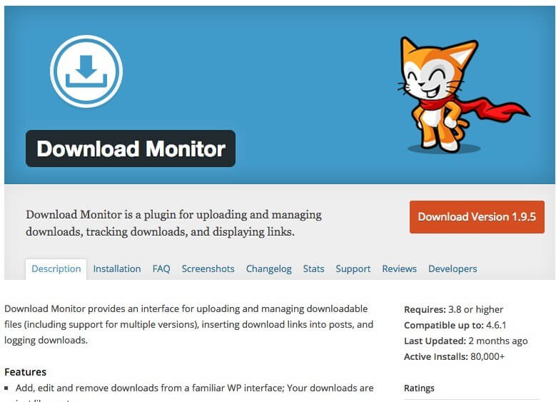 wordpress download monitor