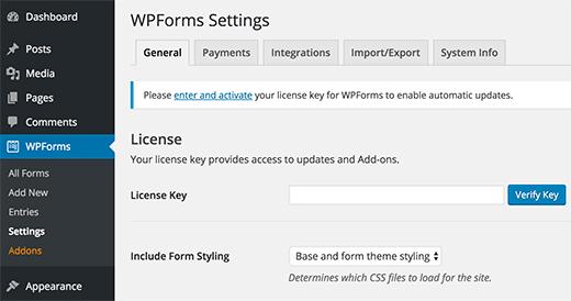 wpforms-license to make WordPress Custom Login Page