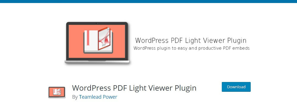 WordPress PDF Light Viewer Plugin