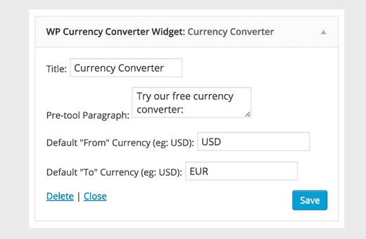 Add Currency Converter in WordPress