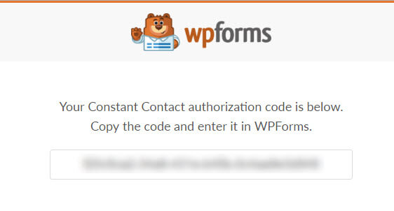 constant contact authorization code