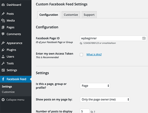 Custom Facebook Feed in WordPress
