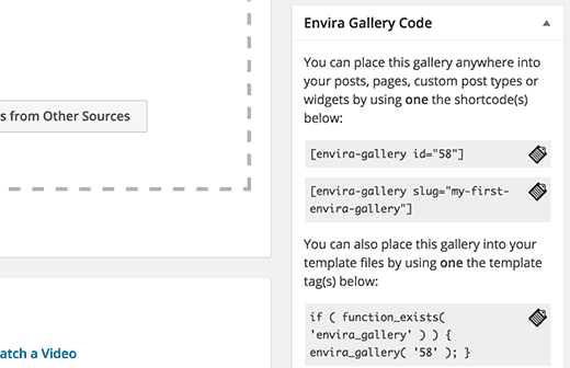 gallery shortcodes