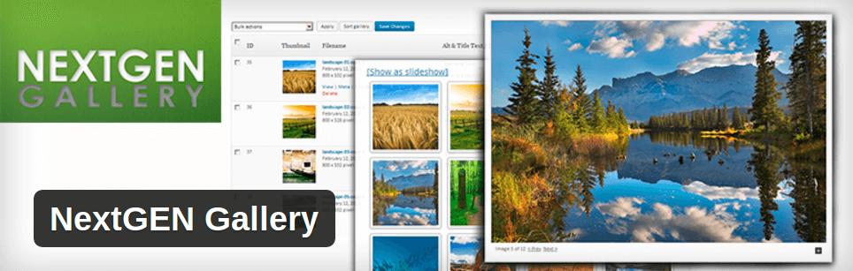 nextgen image gallery wordpress plugin