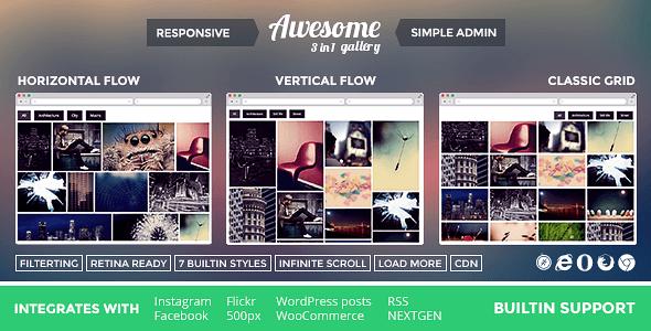Awesome Gallery wordpress plugin