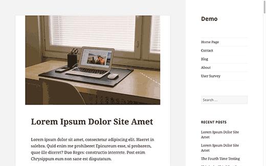 Sidebar Side in WordPress