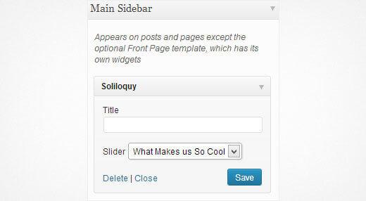 soliloquy slider widget