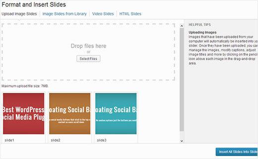upload slide images