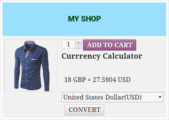 woocommerce currency converter