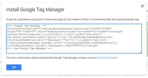 tag manager code