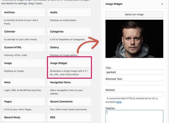 Add an Image Using The Image Widget in WordPress 8